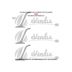 eVendix Staubsaugerbeutel 10 Staubsaugerbeutel Staubbeutel passend für Staubsauger Tefal 4680 Duo (R), passend für Tefal