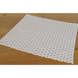 Stoffserviette, Textil Stoff Serviette rot weiß gepunktet 45x45 cm, matches21 HOME & HOBBY