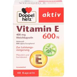 DOPPELHERZ Vitamin E 600 N Weichkapseln 40 St.