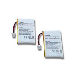 vhbw 2x Li-Polymer Akku 300mAh (3.7V) für Kopfhörer Headset Plantronics Avaya Wireless Headset AWH-55, AWH-65 wie 64327-01, 653580 u.a..