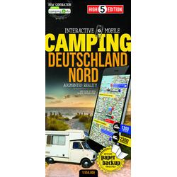 Campingkarte Deutschland Nord 1:550 000