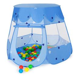 tectake Spielzelt Spielzelt mit 100 Bällen blau