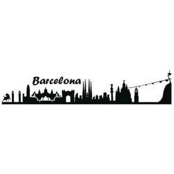 Wandtattoo Stadt Skyline Barcelona 100cm (1 Stück)