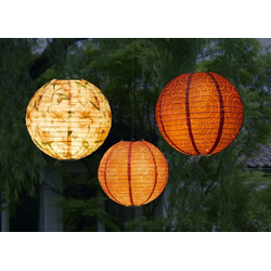 HomeLiving LED Dekolicht Papier-Lampion