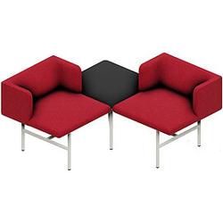 MDD AGORA 2-Sitzer Sofa mit Tisch in der Mitte