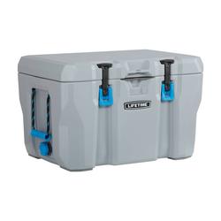 Kunststoff Premium Kühltruhe und Cooler grau mit Tragegriffen