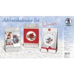 Adventskalender-Set Geschenktüten Winter 12x19x6cm