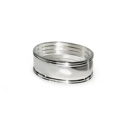 EDZARD Serviettenring Faden, Metall, (4er-Set), Ringe für Stoffservietten und Papierservietten, Serviettenhalter als Tischdeko mit Silber-Optik für Hochzeit und Weihnachten, edel versilbert und anlaufgeschützt