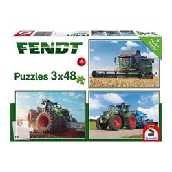 Schmidt Spiele Puzzle Traktoren Fendt 1050 724 Vario 6275L 3x48 Teile, 144 Puzzleteile bunt