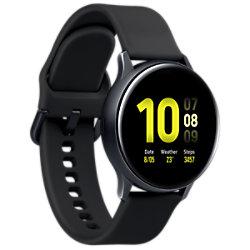 Samsung Sportuhr mit SIM Galaxy Watch Active2 LTE Aqua 40 mm Schwarz