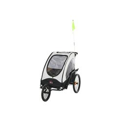 HOMCOM Fahrradkinderanhänger 2 in 1 Fahrradanhänger für 2 Kinder