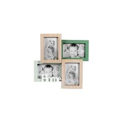 HTI-Living Galerierahmen Bilderrahmen Holz für 4 Fotos Kaila Home, Bilderrahmen
