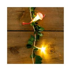 MARELIDA LED-Lichterkette LED Lichterkette mit Fliegenpilzen und Blättern - 20 warmweiße LED - L: 1,3m - Batteriebetrieb, 20-flammig