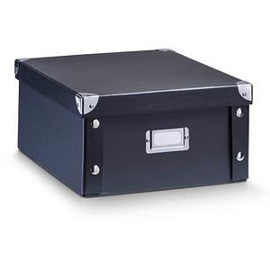 Zeller Aufbewahrungsbox 9,6 l schwarz 26,0 x 31,0 x 14,0 cm