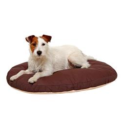 Karlie Liegekissen Doc Bed oval, beige-braun, Maße: 80 x 62 x 10 cm