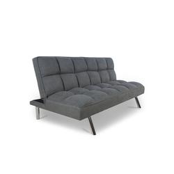 Homestyle4u Schlafsofa, Schlafcouch grau, ausklappbar, 110x180 cm