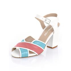 Alba Moda Sandalette in 3-Farbigkeit weiß Damen Sandaletten Sandalen Sandalen/