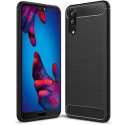 TPU Hülle für Huawei P20 Handy Schutzhülle Carbon Optik Schutz Case