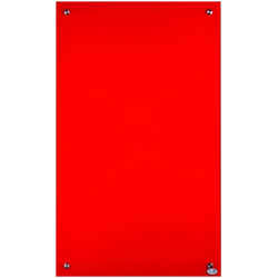 Glas-Infrarotheizung 450 W, (B/H) 60 x 100 cm rot