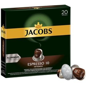 Jacobs Kaffeekapseln Espresso Intenso, Intensität 10 von 12, 200 Nespresso®* kompatible Kapseln, 10 x 20 Getränke