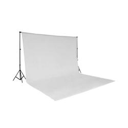 tectake Fotohintergrund Fotohintergrund Komplettset weiß