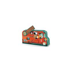 DJECO Puzzle Puzzle Das Feuerwehrauto, 16 Teile, Puzzleteile