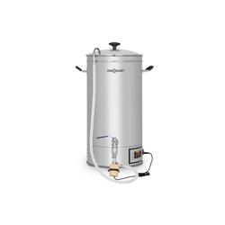 ONECONCEPT Bierzapfanlage Hopfengott Maischekessel 30 Liter 30-140°C Umwälzpumpe Edelstahl