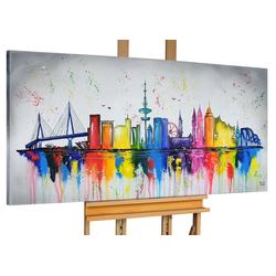 KUNSTLOFT Gemälde Hamburg, meine Perle, handgemaltes Bild auf Leinwand