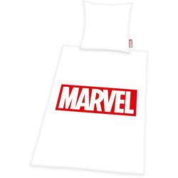 Bettwäsche Marvel, Marvel, mit Logodruck weiß 1 St. x 155 cm x 220 cm