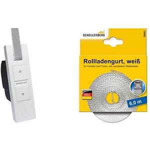 RolloTron Basis 1100-UW - Elektrischer Gurtwickler für Rollläden & Schellenberg 36003 Rollladengurt 23 mm x 6,0 m - System MAXI, Rolladengurt, Gurtband, Rolladenband