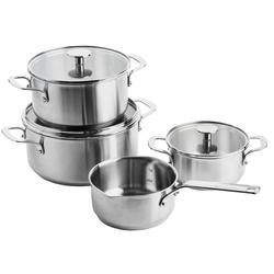 KitchenAid Stainless Steel 4-teiliges Kochtopfset