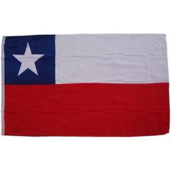 XXL Flagge Chile 250 x 150 cm Fahne mit 3 Ösen 100g/m² Stoffgewicht