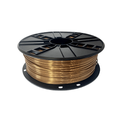 WhiteBOX 3D-Filament Seiden-PLA gold mit Perlglanz 1.75mm 1000g Spule