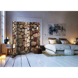 Spanische Wand in Natursteinmauer Optik 5 teilig