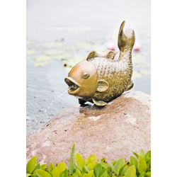 Heissner Wasserspeier Big Fish braun Teichbrunnen Teiche Garten Balkon
