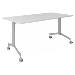KALA 16 | Klapptisch fahrbar | 160 cm | Silber - Konferenztisch Grau