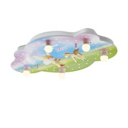 Playmobil Deckenleuchte, 5-flammig, Playmobil ´Fairies´ ¦ rosa/pink ¦ Maße (cm): B: 50 H: 8