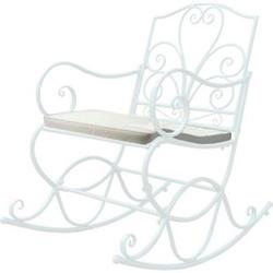 Polsterauflage für Schaukelstuhl MCW-C39, Schaukelstuhlauflage Sitzkissen Sitzpolster, creme