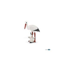 papo Spielfigur Storch mit Babystorch