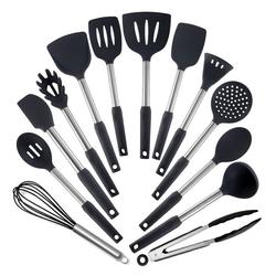 esyBe Küchenhelfer-Set Küchenhelfer Küchenutensilien Set Silikon Küchenutensilien Küchenutensilien Home Kitchen Cooking Tools Küchenhelfer Utensilien Kochgeschirr Kitt 13-Set, CJTZ01-04
