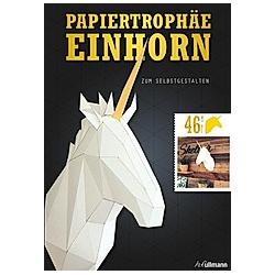 Papiertrophäe Einhorn zum Selbstgestalten. Tougui  - Buch