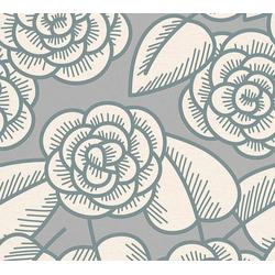 LARS CONTZEN Vliestapete Artist Edition No. 1 Fleur Côtiere grau