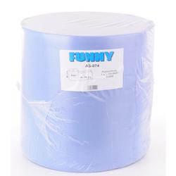 Papierputztuch auf Rolle, 36x38 cm, 3-lagig, blau, 1 Paket = 1 Rolle à 1.000 Abr. = 380 Meter, 1 Paket