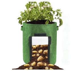 TOPMELON Pflanzkübel Gartenpflanzen im Freien wachsen Taschen (2 Stück), 300 * 350mm / 11.81 * 13.78in grün