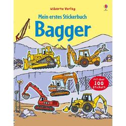 Mein erstes Stickerbuch Bagger