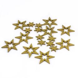 18 Holz Sterne Holzdeko Weihnachtsdeko Tischdeko Weihnachten - gold