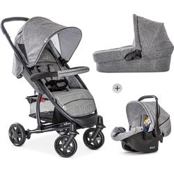 Hauck Kombi-Kinderwagen Malibu 4 Trio Set, Melange/Grey, mit Babyschale; Kinderwagen