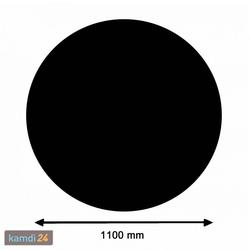 Kamin Glasplatte Kreis groß, schwarz