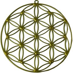 Guru-Shop Dekoobjekt Sonnenfänger, Suncatcher - Blume des Lebens gold