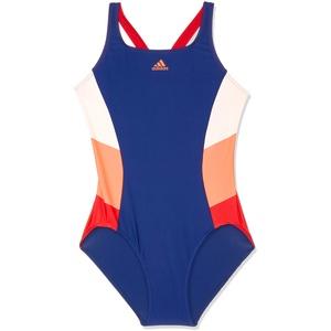 adidas Damen FIT 1PC CB Swimsuit, Dark Blue/Solar red, 34